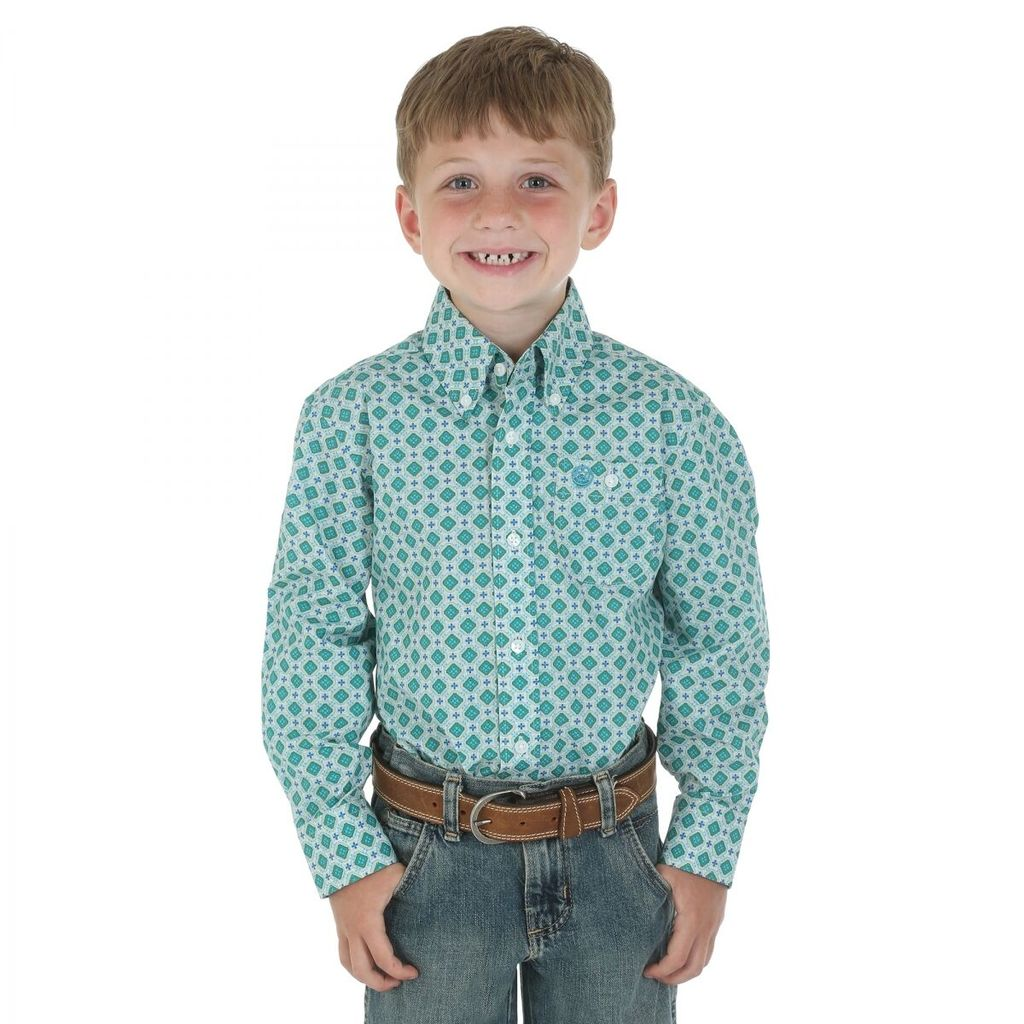 THOMAS COOK BOYS BUTTON DOWN PRINTED SHIRT