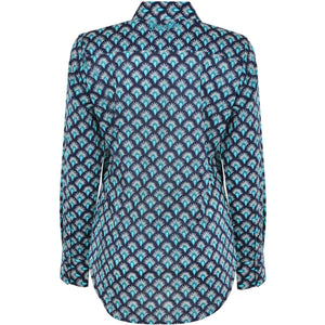 WRANGLER WOMENS JADE PRINT LONG SLEEVE SHIRT