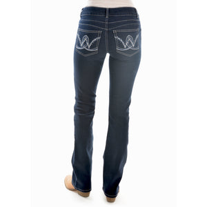 WRANGLER WOMENS MID RISE BOOT CUT JEANS