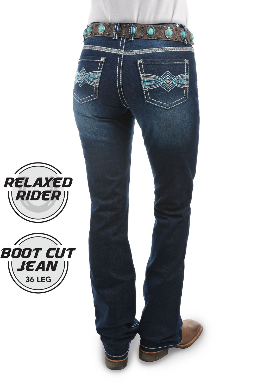 PURE WESTERN WOMENS INDIANA JEANS