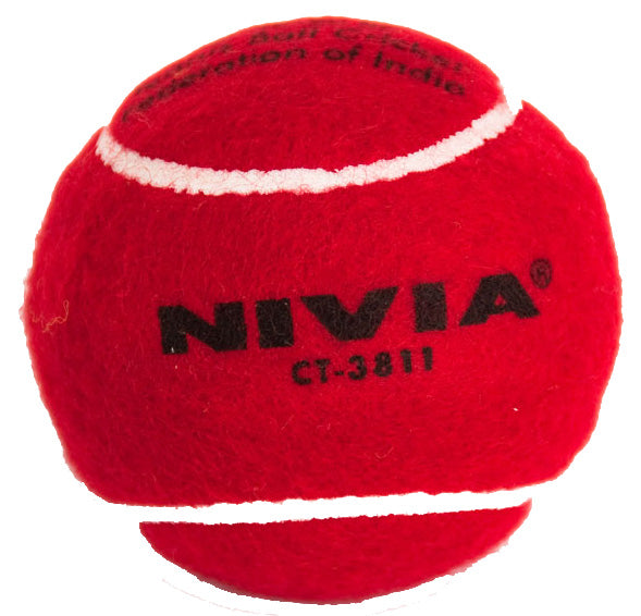 Nivia Heavy Cricket Tennis Balls (Pack of 6-Red)