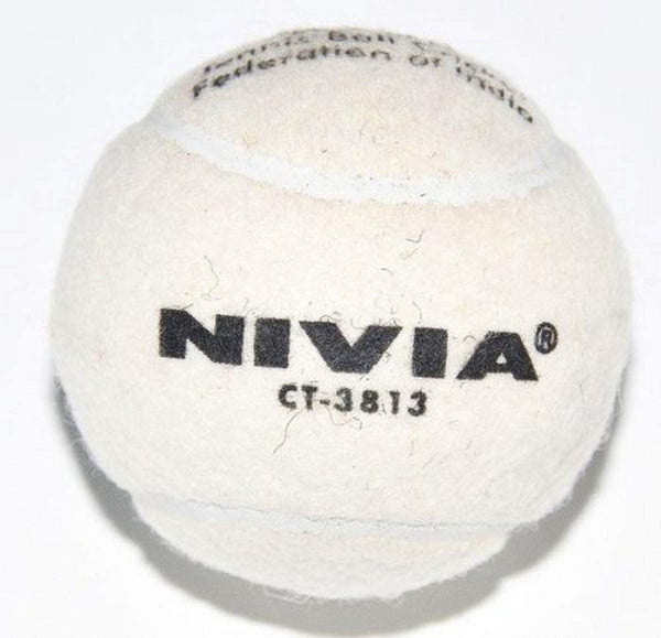 Nivia Heavy Tennis Ball Cricket Ball  - White