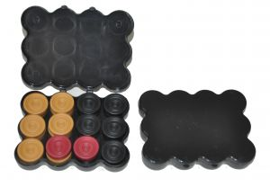 Synthetic Carrom Coin Set