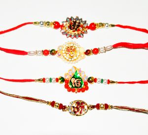 Fancy Pendant-Style 4 Rakhi Set