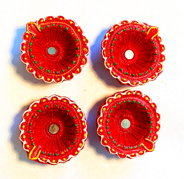 Clay Diya -  Diwali Diya - Pack of 4 Diyas