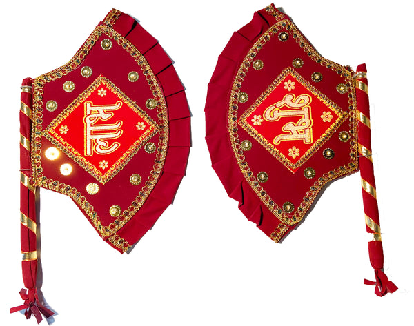 Wedding Handcrafted Hand Fan / North Indian Wedding ceremony Products - Indian wedding