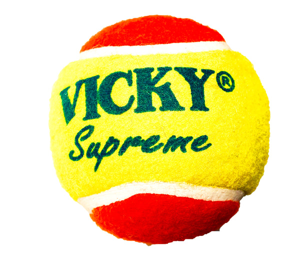 Vicky Supreme Yellow and Red Hard & Heavy Cricket Tennis Ball Pack of 6