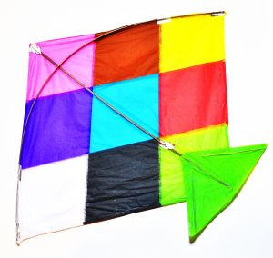 Paper Kites and Kite Line ( Patang & Dori ) 10 Kites and Line