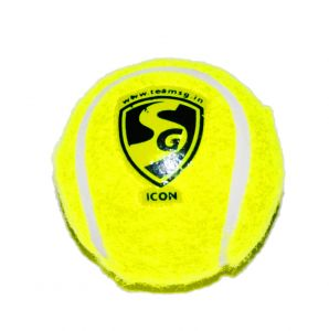 SG Yellow Hard & Heavy Cricket Tennis Ball (ICON)