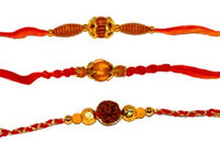 Beaded 3 Rakhi Set