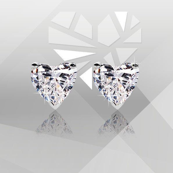 Серьги Diamond Heart earrings