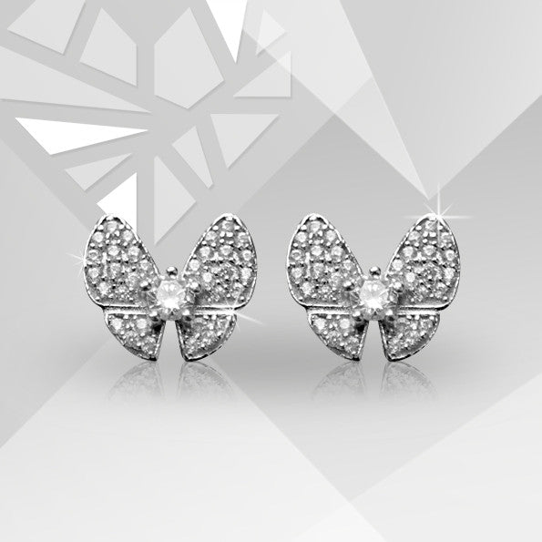 Серьги Butterfly stud earrings