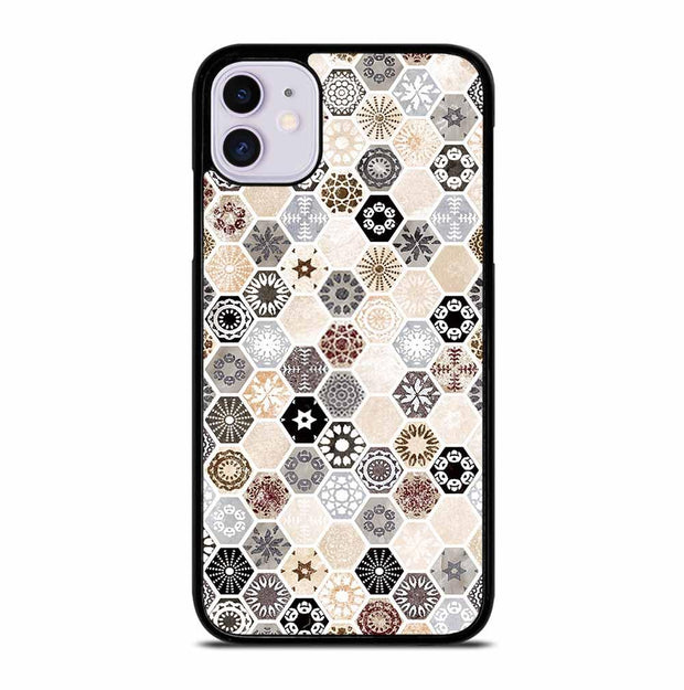 ABSTRACT HONEYCOMB PATTERN iPhone 11 Case