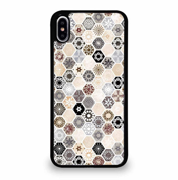 ABSTRACT HONEYCOMB PATTERN iPhone XS Max Case Cover