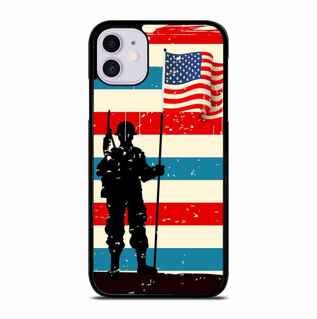 AMERICAN FLAG SOLDIER iPhone 11 Case