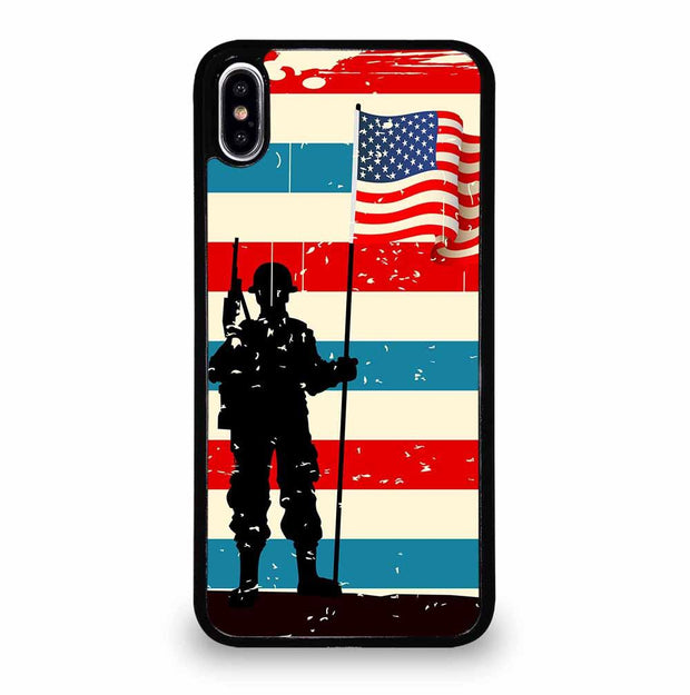 AMERICAN FLAG SOLDIER iPhone XS Max Case
