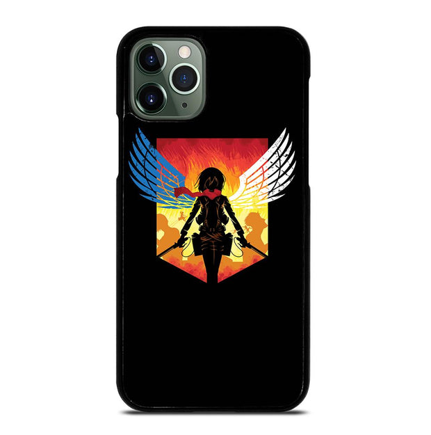 ATTACK ON TITAN LOGO MIKASA ACKERMAN iPhone 11 Pro Max Case