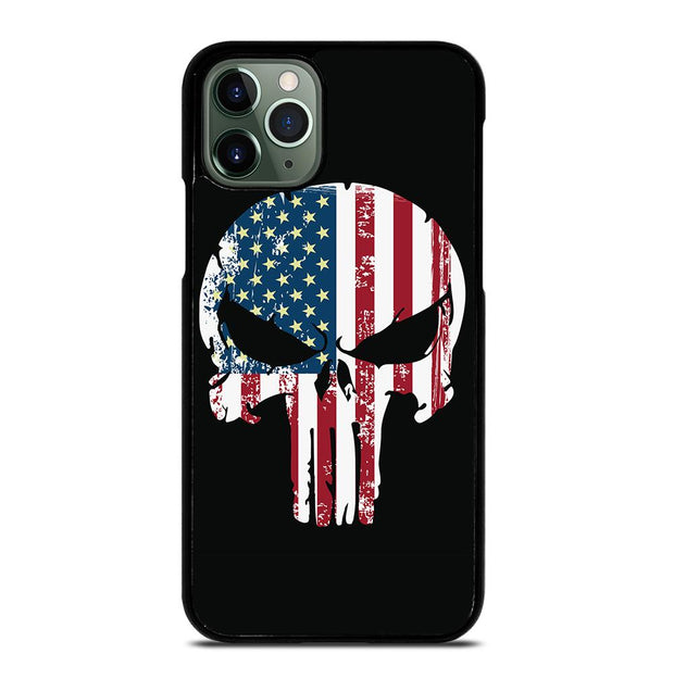 American Flag Punisher Skull iPhone 11 Pro Max Case