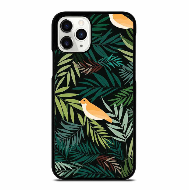 BEAUTIFUL BIRD LEAF NATURE JUNGLE PATTERN iPhone 11 Pro Case