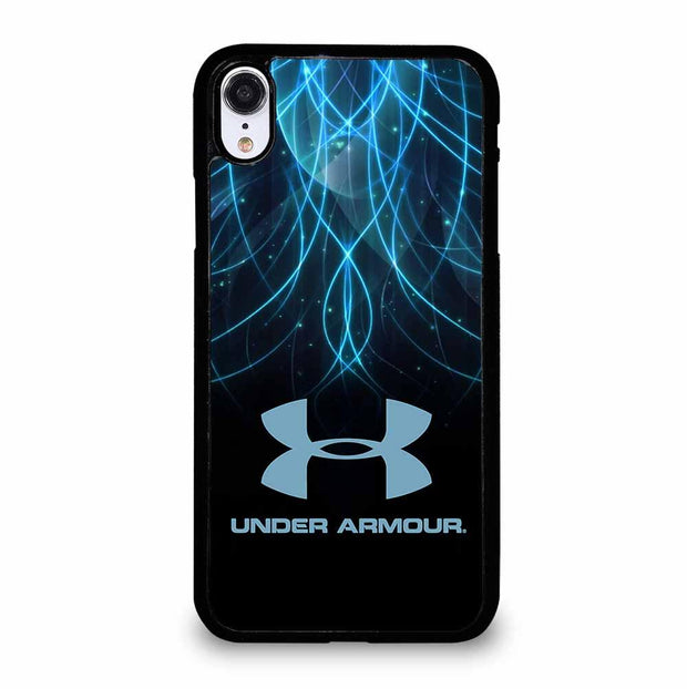 BLACK AND BLUE UNDER ARMOUR LOGO iPhone XR Case
