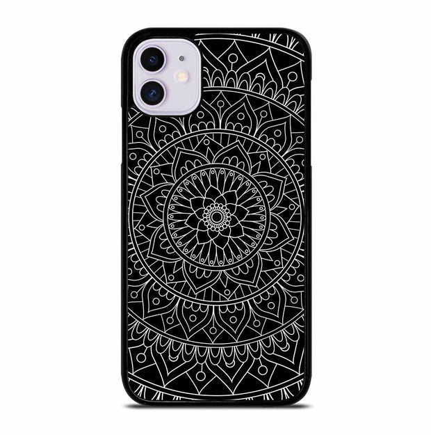 BLACK MANDALA iPhone 11 Case