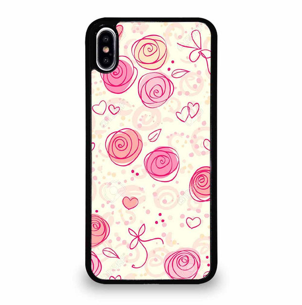 PINK FLOWER PATTERN iPhone XS Max Case