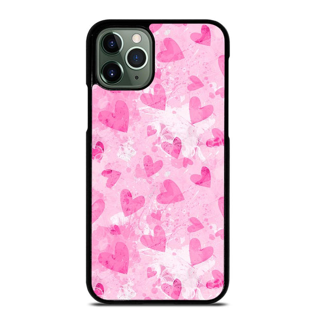 PINK LOVE HEART iPhone 11 Pro Max Case