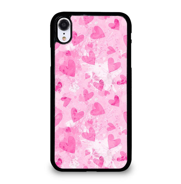 PINK LOVE HEART iPhone XR Case