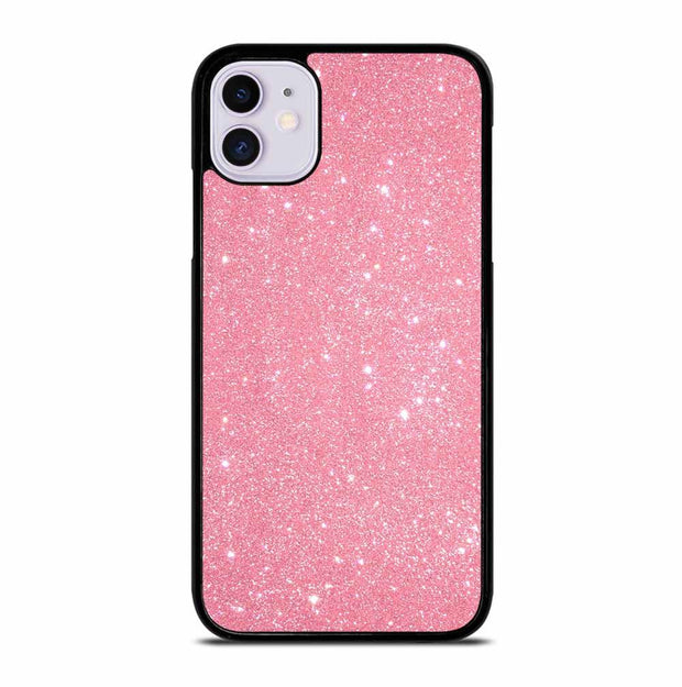 PINK SPARKLE GLITTER iPhone 11 Case Cover