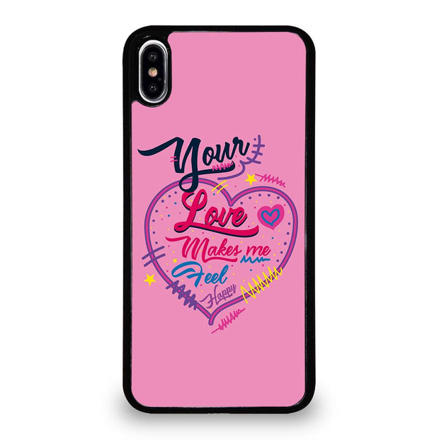 Pink Love Quotes iPhone XS Max Case