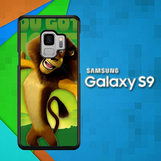 alex the lion madagascar Z1555 Samsung Galaxy S9 Cover Cases