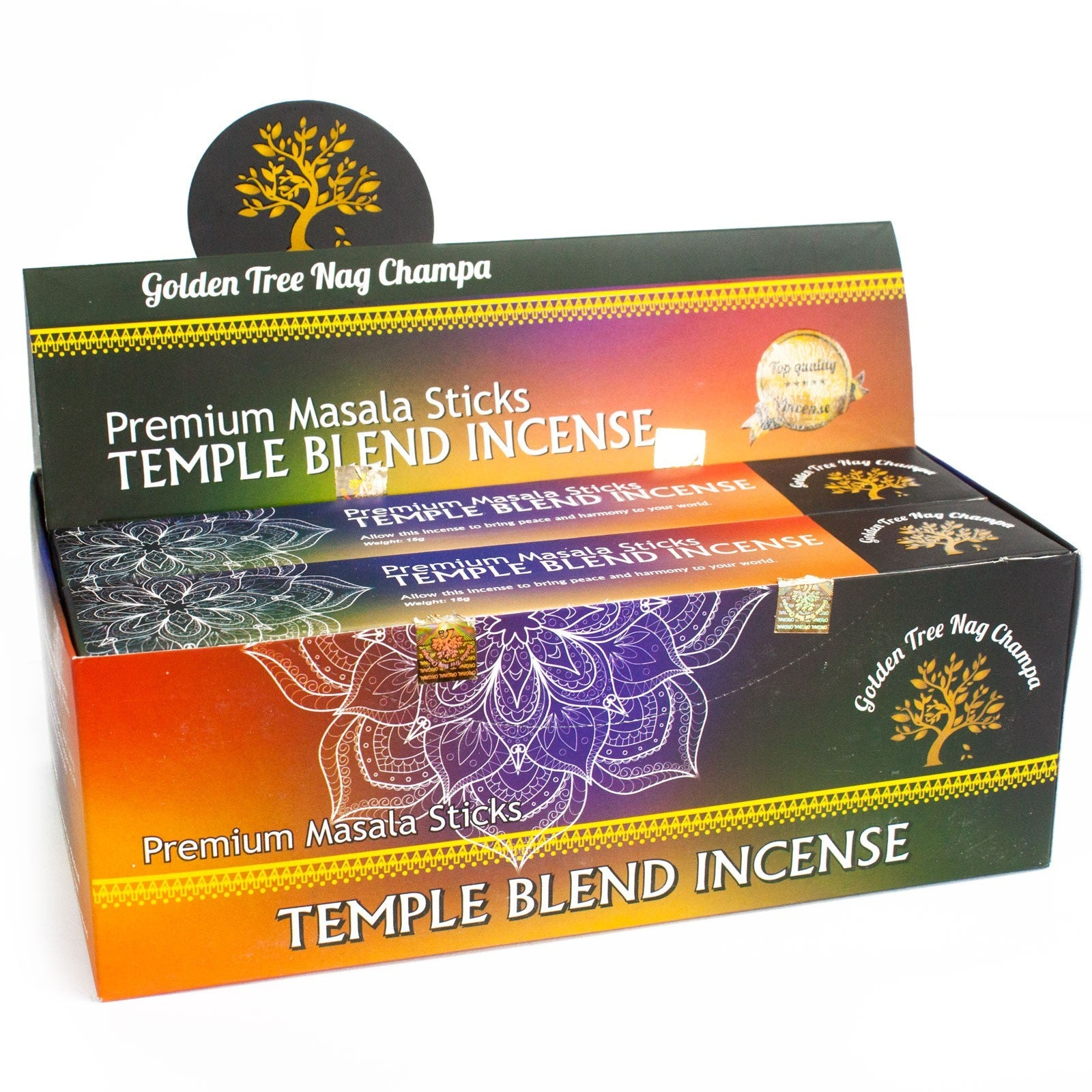 Dišeče palčke Golden Tree Nag Champa Incense - Temple Blend