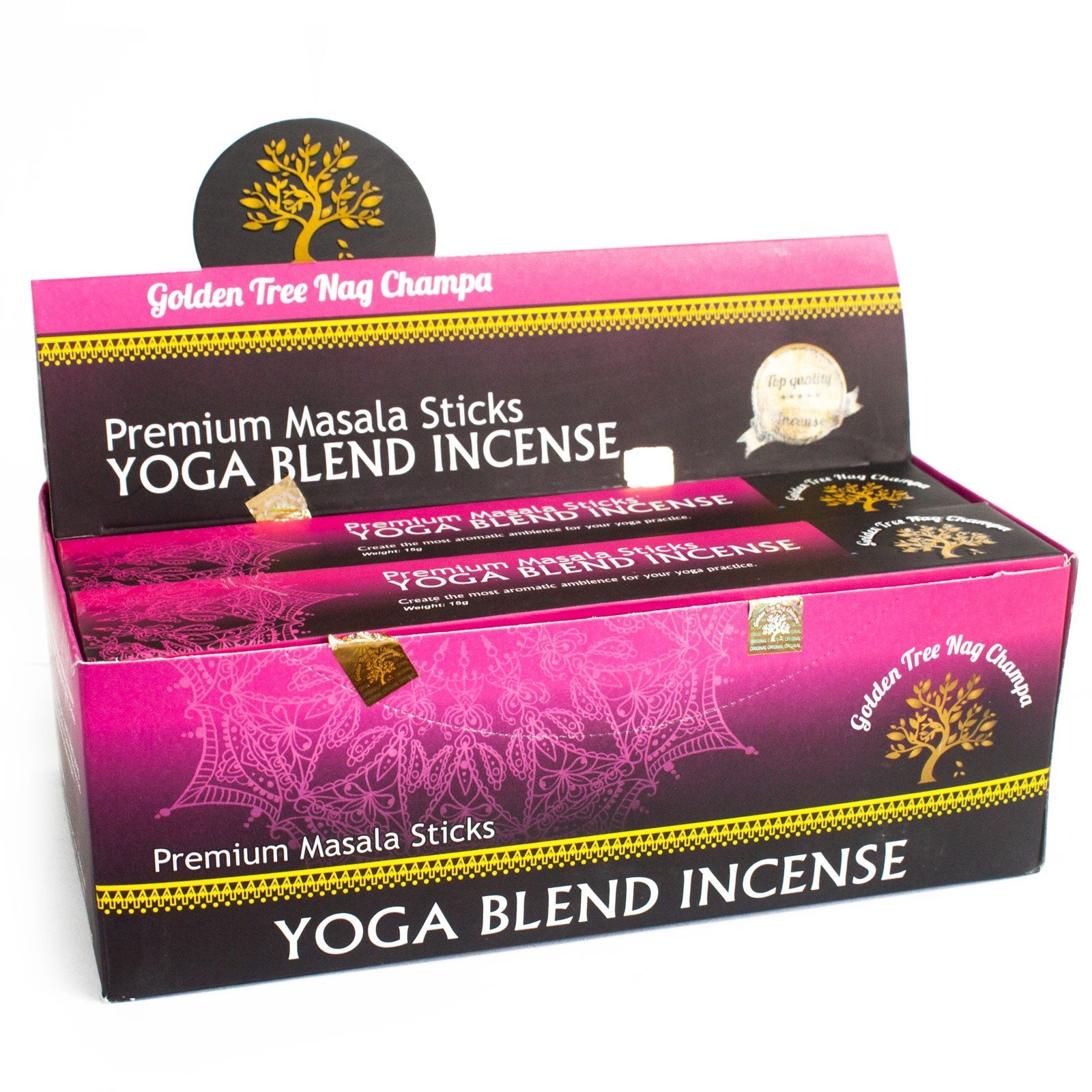 Dišeče palčke Golden Tree Nag Champa Incense - Yoga Blend