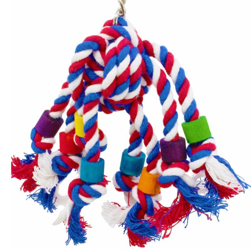 Rope Jumble Bird Toy - Parrottoysplus