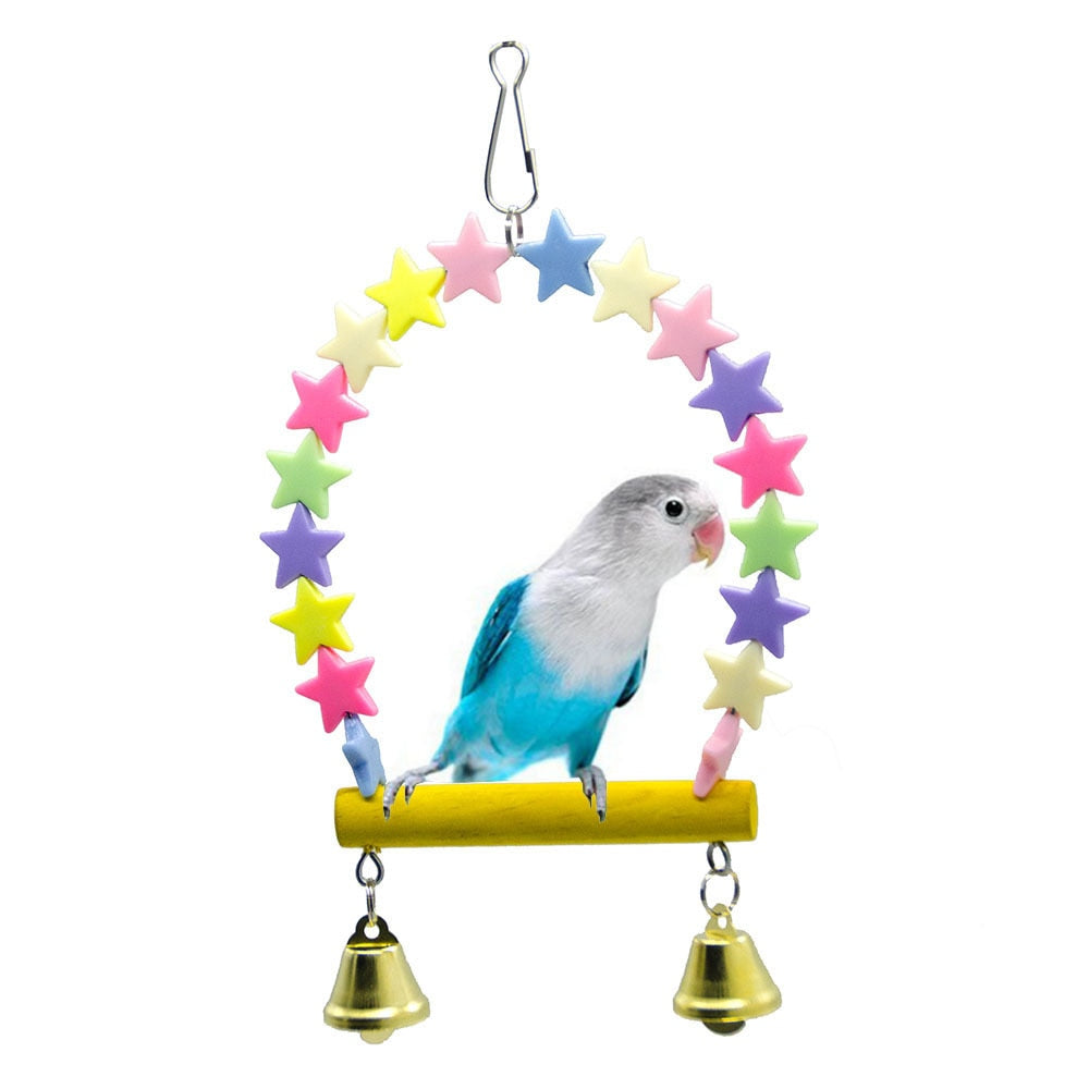 Star Swing with Bells - Parrottoysplus