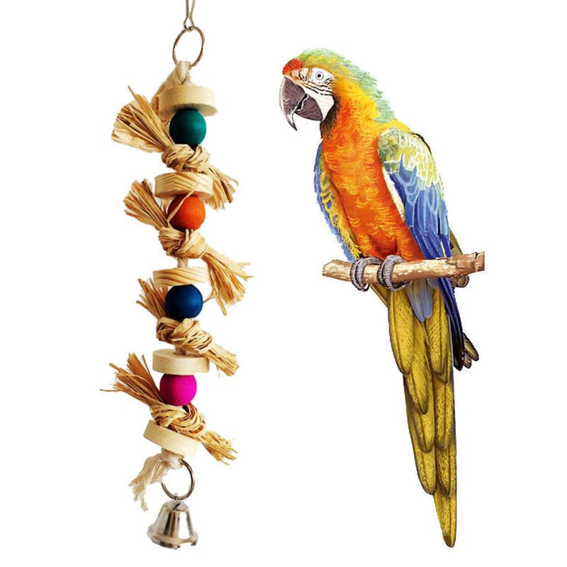 Chew Toy with Bell - Parrottoysplus