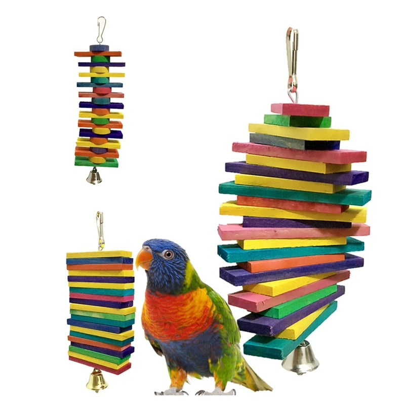 Bird Toy Building Blocks (Multiple Sizes) - Parrottoysplus