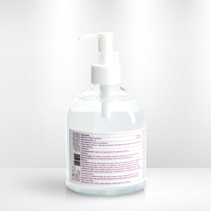 3 Bottles - 80% Ethanol Hand Sanitizers (Solution) - 500mL