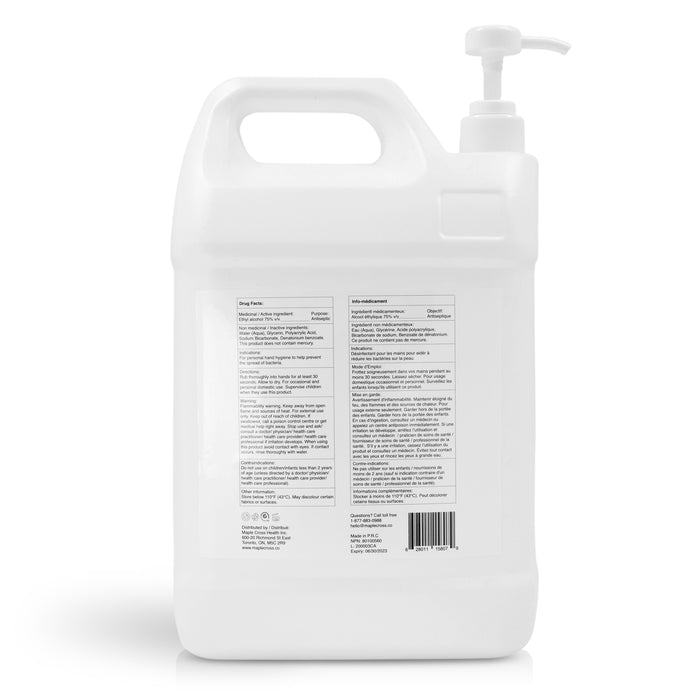 75% Ethanol Hand Sanitizer (Gel) - Case of 2 x 5L