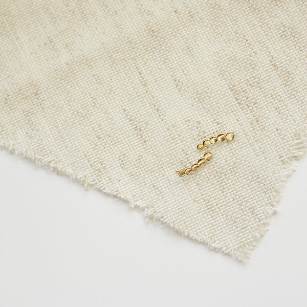 More Water, Less Caffeine Crawlers - Cascading Gold Circle Ear Crawlers - Flat Lay | Sundree Accessories