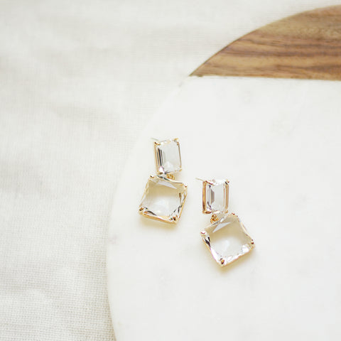 Concrete Jungle Drops - Glass Drop Earrings - Detail Flat Lay | Sundree Accessories