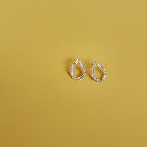 GNO Drops - Crystal Teardrop Mini Drop Earrings - Flat Lay | Sundree Accessories