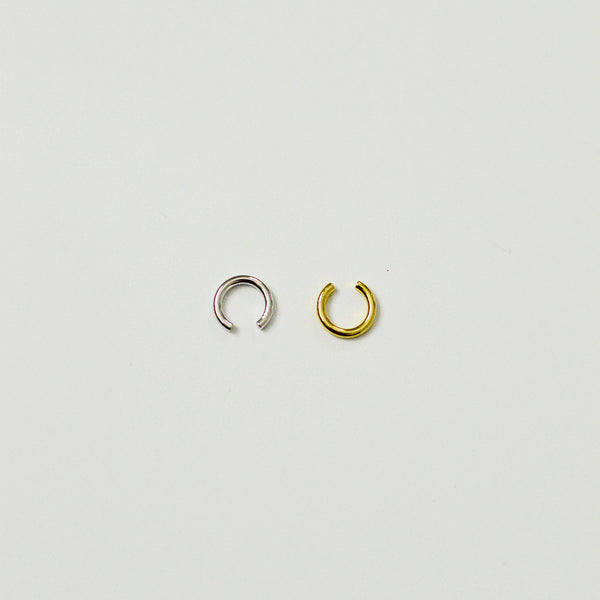 Sundree Circle Cuff - Classic Sterling Silver Ear Cuff - Gold and Silver Flat Lay | Sundree Accessories