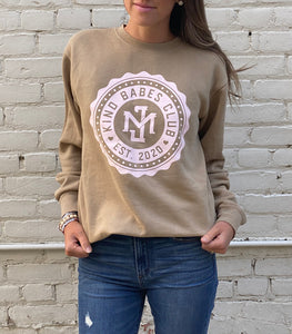 Kind Babes Club Crewneck // Sandstone