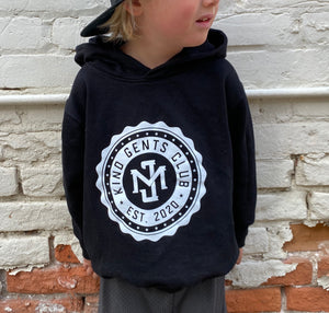 Kind Gents Club // Kids Hoodie  // Black