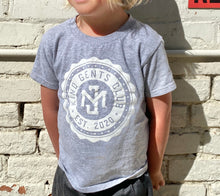 Load image into Gallery viewer, Kind Gents Club // Kids Tee // Grey