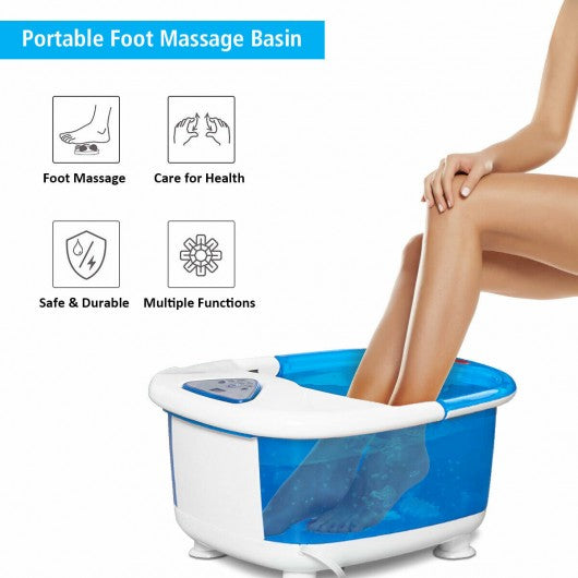 TickleZ™ Portable Foot Spa With LCD Display Relaxing Foot Spa Machine