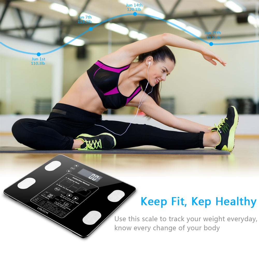 Digital Weight Scale For Weight, Body Fat, BMI Measurement With BIA Technology