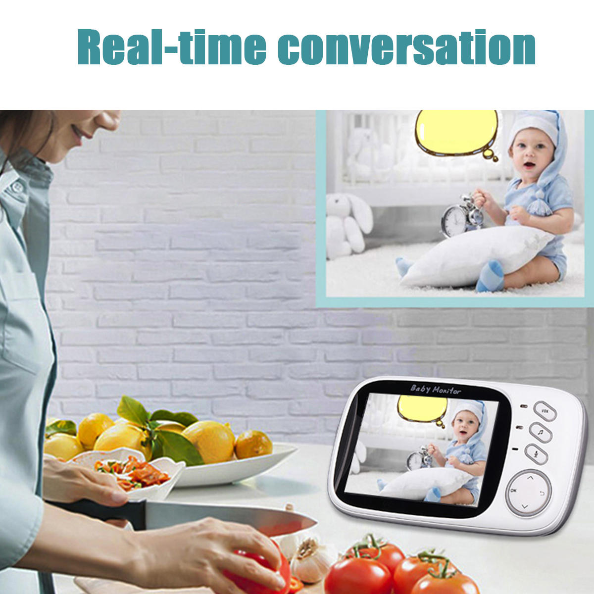 iZeeU™ Video Baby Monitor Camera Wireless Baby Monitor