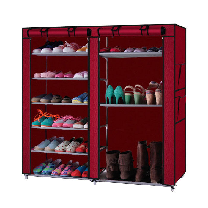 TideeUP™ Shoe Cabinet Double Row 9 Rack Shoe Storage Cabinet